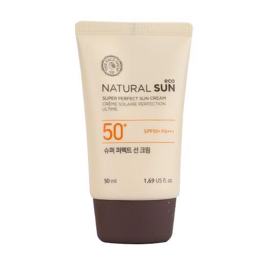 Kem Chống Nắng The Face Shop NATURAL SUN ECO SUPER WHITE sáng da