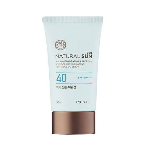 Kem chống nắng The Face Shop NATURAL SUN ECO NO SHINE HYDRATING kiểm soát nhờn