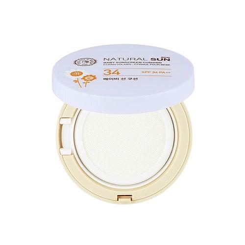 Kem chống nắng cho da dầu mụn The Face Shop Natural Sun Eco Baby Sunscreen Cushion SPF 34 PA++