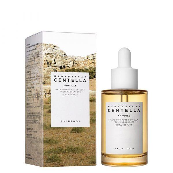 nh chất rau má Skin1004 Madagascar Centella Ampoule Trị Mụn Và Làm Dịu Dành Cho Da Nhạy Cảm 55ml
